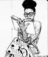 black girl writing