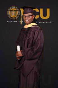 Sidney, graduating with his MSW from VCU