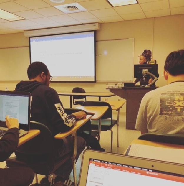Me teaching, winter 2018